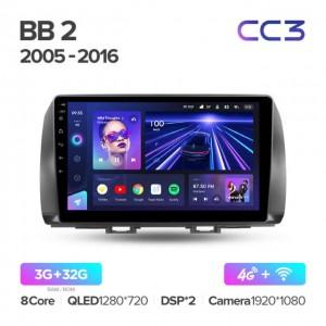 Штатная автомагнитола на Android TEYES CC3 для Toyota bB 2 QNC20 2005-2016