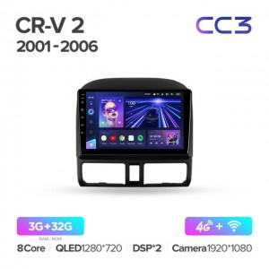 Штатная автомагнитола на Android TEYES CC3 для Honda CR-V 2 2001-2006
