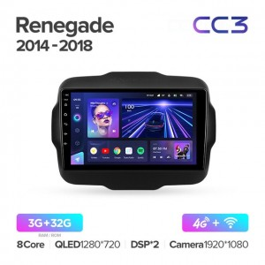 Штатная автомагнитола на Android TEYES CC3 для Jeep Renegade 2014-2018