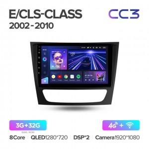Штатная автомагнитола на Android TEYES CC3 для Mercedes-Benz E-Class S211, W211 CLS-Class C219 2002-2010