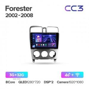 Штатная автомагнитола на Android TEYES CC3 для Subaru Forester SG 2002-2008