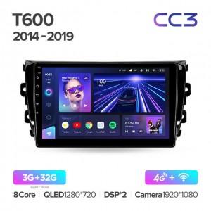 Штатная автомагнитола на Android TEYES CC3 для Zotye T600 2014-2019