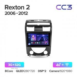 Штатная автомагнитола на Android TEYES CC3 для SsangYong Rexton Y250 II 2 2006-2012