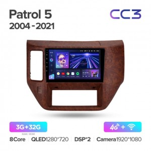 Штатная автомагнитола на Android TEYES CC3 для Nissan Patrol V 5 Y61 2004-2021