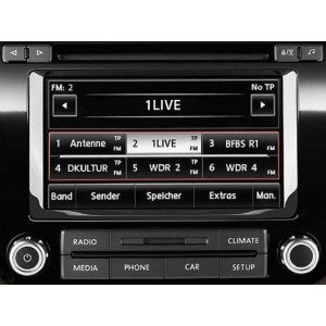 Видео интерфейс Gazer VC700-RCD550 для Volkswagen с установленной системой RCD550